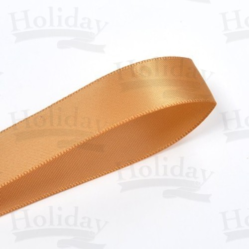 Double Face Satin Ribbon, Old Gold, 7/8 inch (22 mm)