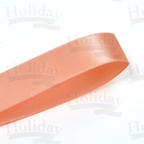 Double Face Satin Ribbon, Peach, 7/8 inch (22 mm)