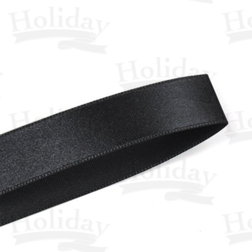 Double Face Satin Ribbon Black 2 1 4 Inch 57 Mm