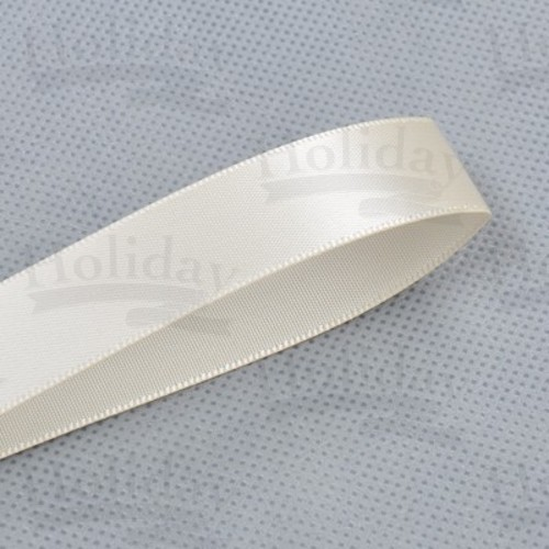 Double Face Satin Ribbon, Cream, 2-1/4 inch (57 mm)