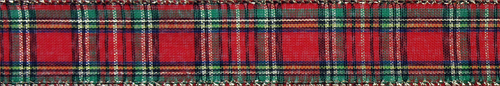 "#9 Ribbon, 1.5""X50Y, Wired Traditional Plaid"