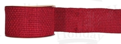 "#40 Ribbon, 2.5"" x 25Y, Red Weave with Red Edge"