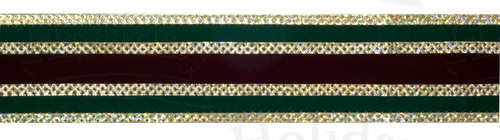 "#9 Ribbon, 1.5""X25Y, Burgundy/Green/Gold Gucci Pattern"