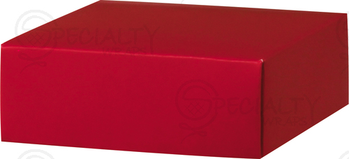 "Box Lid, Small, 4"" x 4"" x 1.5"", Red, Pack of 25 - Click Image to Close"