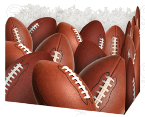 "Basket Box , Large, 10.25"" x 6"" x 7.5"", Football, Pack of 6"