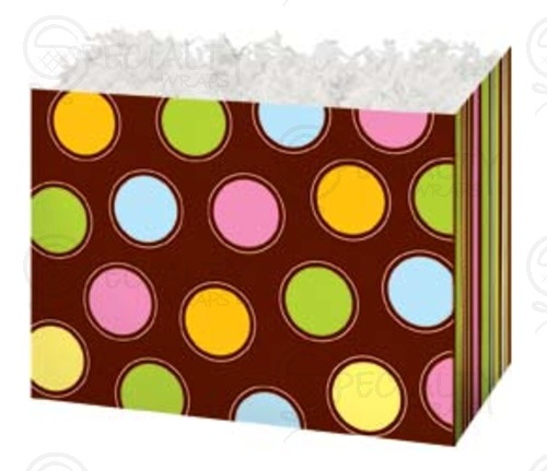 "Basket Box , Small, 6.75"" x 4"" x 5"", Chocolate Buttons, Pack of"