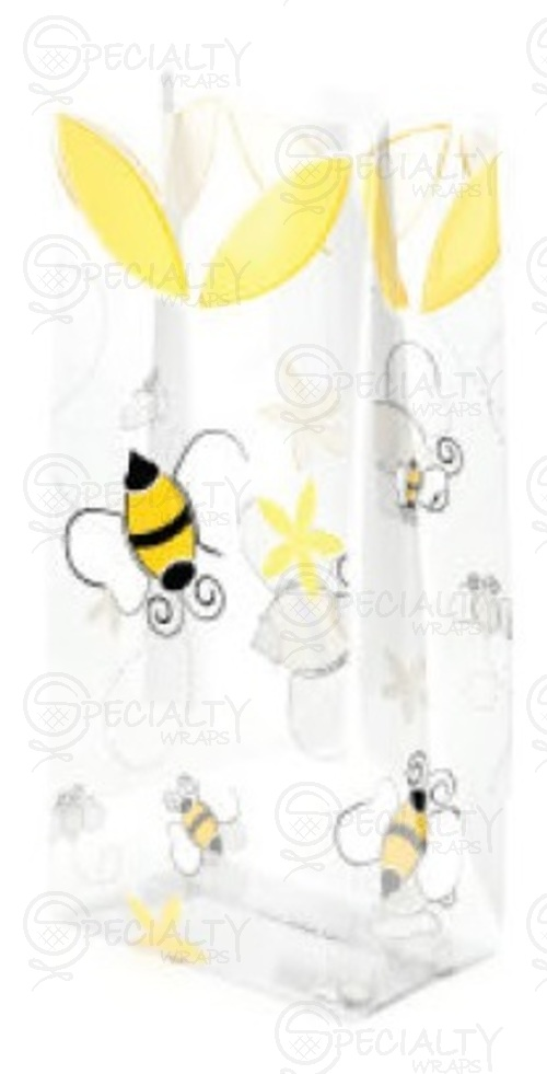 "Printed Cello Rolls & Bags, A Little Honey, 3.5"" x 2"" x 7.5"", Cl"