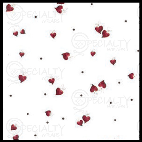 "Printed Cello Rolls & Bags, Ribbon Hearts, 30"" x 100', Ribbon He"