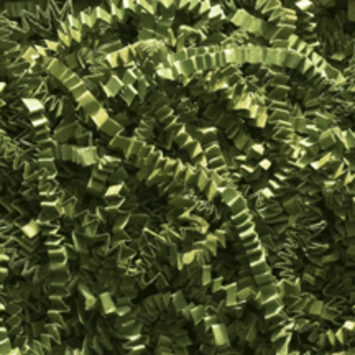 Crinkle Cut Paper Shred, Olive Green, 40#