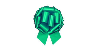 #100 Poly satin pull bow/GREEN/5 PACK