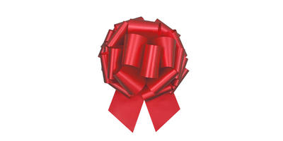 #100 Poly satin pull bow/RED/5 PACK