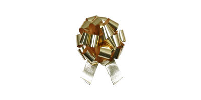#09 Poly Satin Pull Bow/GOLD/50 pack
