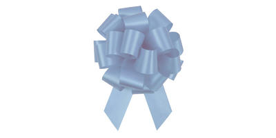 #09 Poly Satin Pull Bow/LIGHT BLUE/50 pack