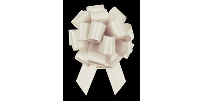 #09 Poly Satin Pull Bow/OFF WHITE/50 pack