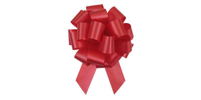#9 Poly Satin Pull Bow/RED/50 pack