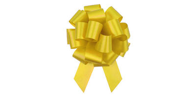 #09 Poly Satin Pull Bow/YELLOW/50 pack