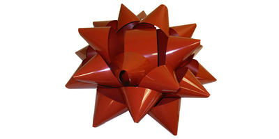 Giant Star Bow - 22 inch Wide Weatherproof PVC/RED