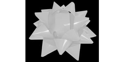 Giant Star Bow - 22 inch Wide/WHITE