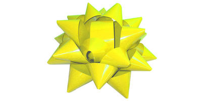 Giant Star Bow - 22 inch Wide/YELLOW