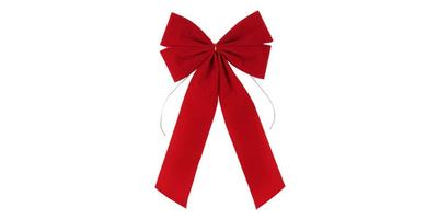 8 inch wide Velvet Value Bow, 4 Loops/RED (Made in China), Pack