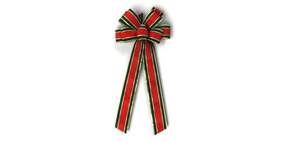 #40 Eight Loop Bow, Red/Green/Gold Gucci Pattern