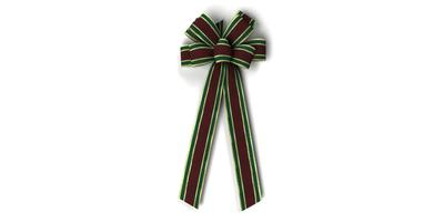 #40 Eight Loop Bow, Burgundy/Green/Gold Gucci Pattern