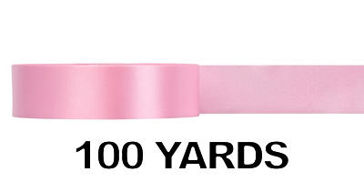 #09 Poly Satin Ribbon/PINK/100 yds