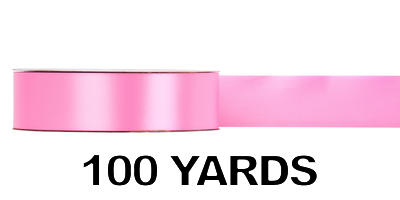 #09 Poly Satin Ribbon/HOT PINK/100 Yards