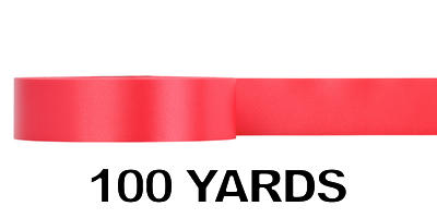#09 Poly Satin Ribbon/RED/100 yds