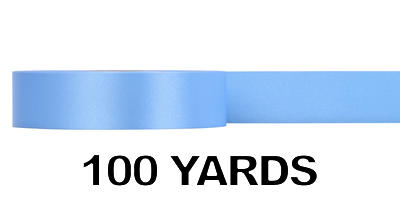 #09 Poly Satin Ribbon/LIGHT BLUE/100 yds