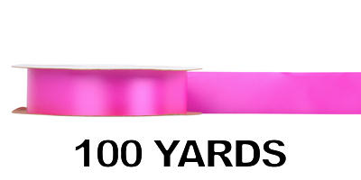 #09 Poly Satin Ribbon/FUSCHIA/100 Yards