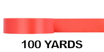 #09 Poly Satin Ribbon/ORANGE/100 yds