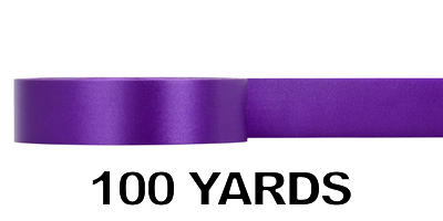 #09 Poly Satin Ribbon/PURPLE/100 yds