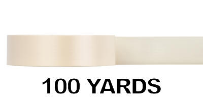 #09 Poly Satin Ribbon/IVORY/100 yds