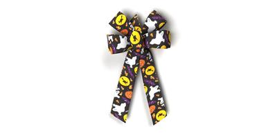 #09 Six Loop Poly Prints Bow/HALLOWEEN