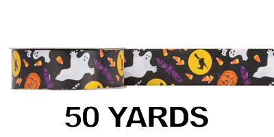 #09 Poly Print Ribbon/HALLOWEEN/50 yds