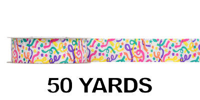 #09 Poly Print Ribbon/CONFETTI/50yds