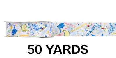#09 Poly Print Ribbon/GRADUATION/50yds