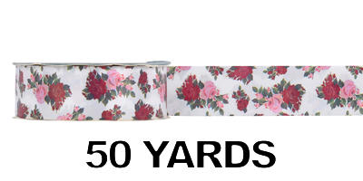 #09 Poly Print Ribbon/LEGACY ROSE/50 yds