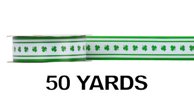 #09 Poly Print Ribbon/SHAMROCK/50yds