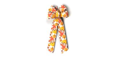 #40 Six Loop Prints Bow/AUTUMN BREEZES