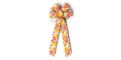 #40 Eight Loop Prints Bow/AUTUMN BREEZES