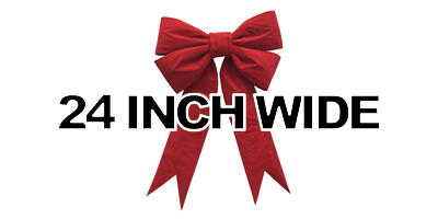 24 inch wide Giant Structural Red Bow