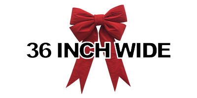 36 inch wide Giant Structural Red Bow