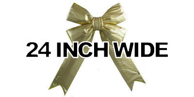 24 inch wide Giant Structural Gold Bow