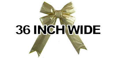 36 inch wide Giant Structural Gold Bow, 1/box