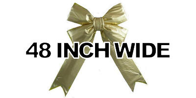 48 inch wide Giant Structural Gold Bow, 1/box
