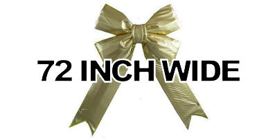 72 inch wide Giant Structural Gold Bow, 1/box