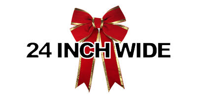 24 inch wide Giant Structural Red Bow, Gold Edge