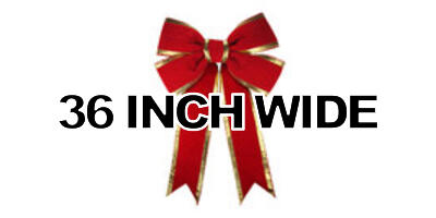 36 inch wide Giant Structural Red Bow, Gold Edge